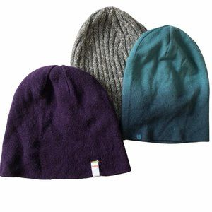 TRIO of beanies hats tuque